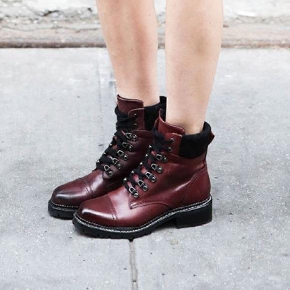 Frye Womens Samatha Stud Hiker Hiking Boot